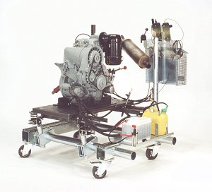 Deutz Diesel engine, 2 cylinders, on RWB truck with special equipment for engines with strong vibrations.